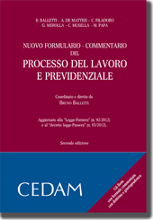 Nuovo Formulario - Commentario del processo del lavoro e previdenziale