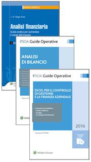 Offerta 3 volumi: Analisi bilancio + Analisi finanziaria + Excel per il controllo di gestione e la finanza aziendale