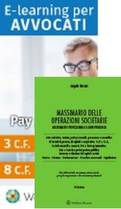 Offerta: Massimario delle operazioni societarie + E-learning per avvocati (pacchetto  5 crediti formativi)