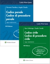 Offerta codici minor 2019: Codice minor penale-procedura penale + Codice minor civile-procedura civile