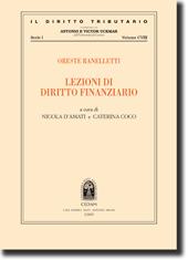 Oreste Ranelletti - Lezioni di diritto finanziario