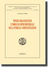 Potere organizzativo e modello imprenditoriale nella pubblica amministrazione