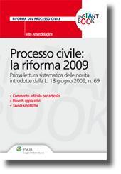 Processo civile: la riforma 2009