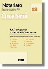 S.r.l. artigiana e autonomia statutaria