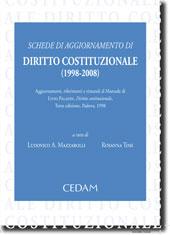 Schede di aggiornamento di Diritto Costituzionale (1998-2008)