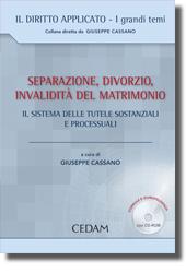 Separazione, divorzio, invalidità del matrimonio