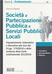 Societàa partecipazione pubblica e servizi pubblici locali