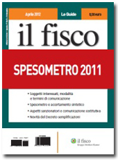 Spesometro 2011