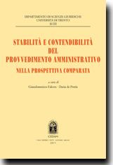 Stabilità e contendibilità del provvedimento amministratico nella prospettiva comparata
