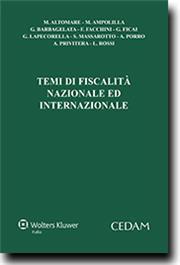 Temi di fiscalità nazionale ed internazionale