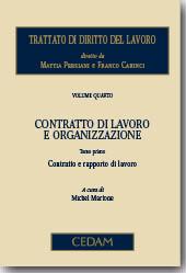 Trattato di diritto del lavoro. Vol. IV: Contratto di lavoro e organizzazione
