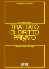 Trattato di diritto privato. Vol. XVIII - Impresa e lavoro. Tomo IV