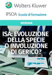 Webinar - ISA: evoluzione della specie o involuzione di Gerico?