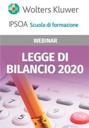 Webinar - Legge di bilancio 2020