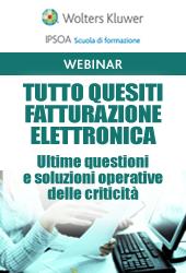 Webinar - Tutto quesiti fatturazione elettronica