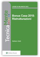 Bonus Casa 2018: Ristrutturazioni - eBook
