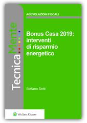 eBook - Bonus Casa 2019: Interventi di  Risparmio Energetico