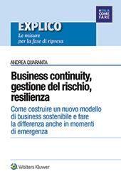 eBook - Business continuity,  gestione del rischio,  resilienza