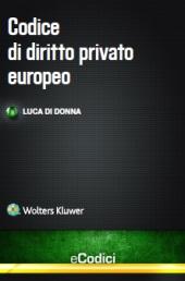 eBook - Codice di diritto privato europeo