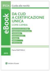 eBook - Da CUD a certificazione unica