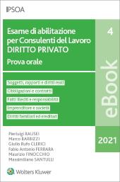 eBook - Esame di abilitazione per consulenti del lavoro - diritto privato