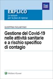 eBook - Gestione del Covid-19 nelle attività sanitarie  e a rischio specifico  di contagio