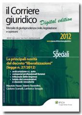 """eBook - Il Corriere Giuridico - Le principali novità del decreto """"liberalizzazioni"""" (legge n. 27/2012)"""