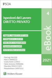 eBook - Ispezioni del lavoro - diritto privato