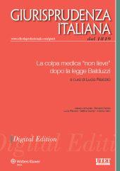 """eBook - La colpa medica """"non lieve"""" dopo la legge Balduzzi"""