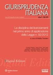 eBook - La disciplina dei licenziamenti nel primo anno di applicazione della Legge n. 92/2012