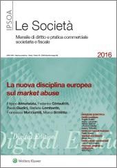eBook - La nuova disciplina europea sul market abuse