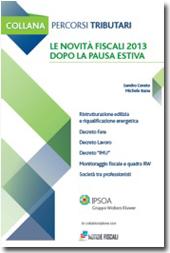eBook - Le novità fiscali 2013 dopo la pausa estiva