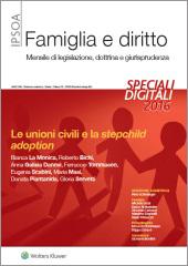 eBook - Le unioni civili e la stepchild adoption