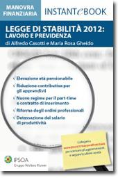 eBook - Legge di stabilità 2012: lavoro e previdenza