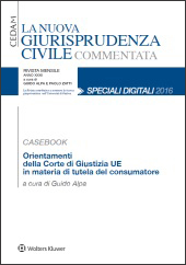 eBook - Orientamenti della Corte di Giustizia UE in materia di tutela del consumatore