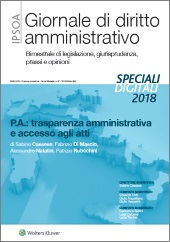eBook - P.A.: trasparenza amministrativa e accesso agli atti