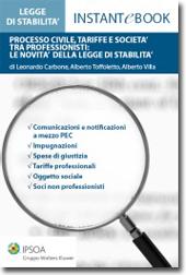 eBook - Processo civile, tariffe e società tra professionisti: le novità della legge di stabilità