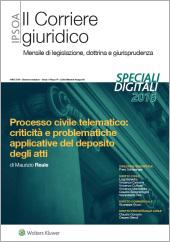 eBook - Processo civile telematico: criticità e problematiche applicative del deposito degli atti