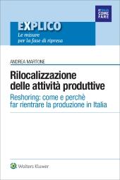 eBook - Rilocalizzazione in Italia delle attività produttive - Reshoring