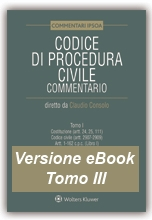 eBook Tomo III - Codice di Procedura Civile Commentato