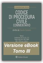 eBook Tomo III - Codice di Procedura Civile Commentato