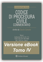 eBook Tomo IV - Codice di Procedura Civile Commentato