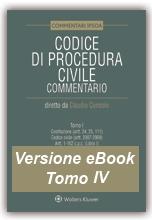 eBook Tomo IV - Codice di Procedura Civile Commentato